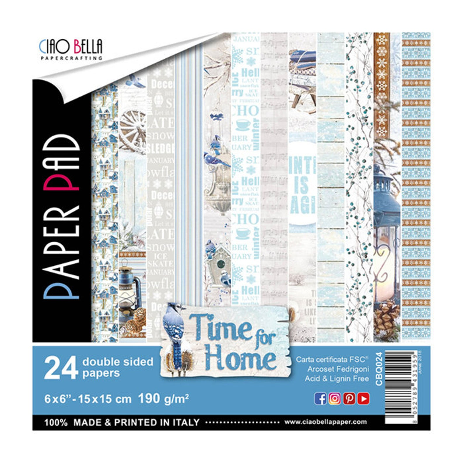 Ciao Bella - Time for Home 6x6 Paper Pack