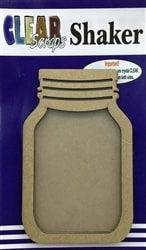 Clear Scraps - Mini Shaker Mason Jar