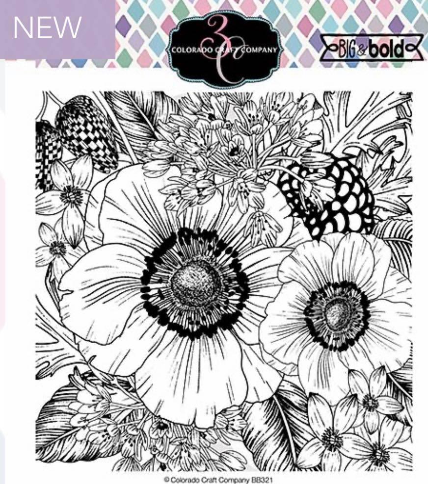 Colorado Craft Co. - Big & Bold Anemone & Alium Stamp