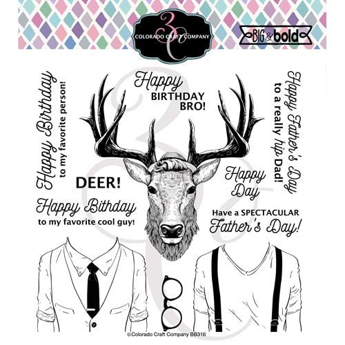 Colorado Craft Co. - Big & Bold Hipster Deer Stamp
