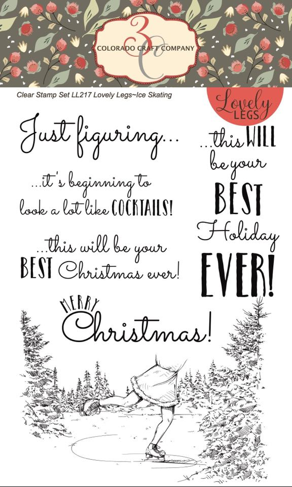 Colorado Craft Co. - Lovely Legs - Ice Skating Stamp Set