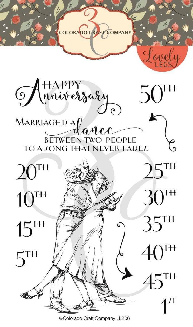 Colorado Craft Co. - Lovely Legs Anniversary Stamp Set