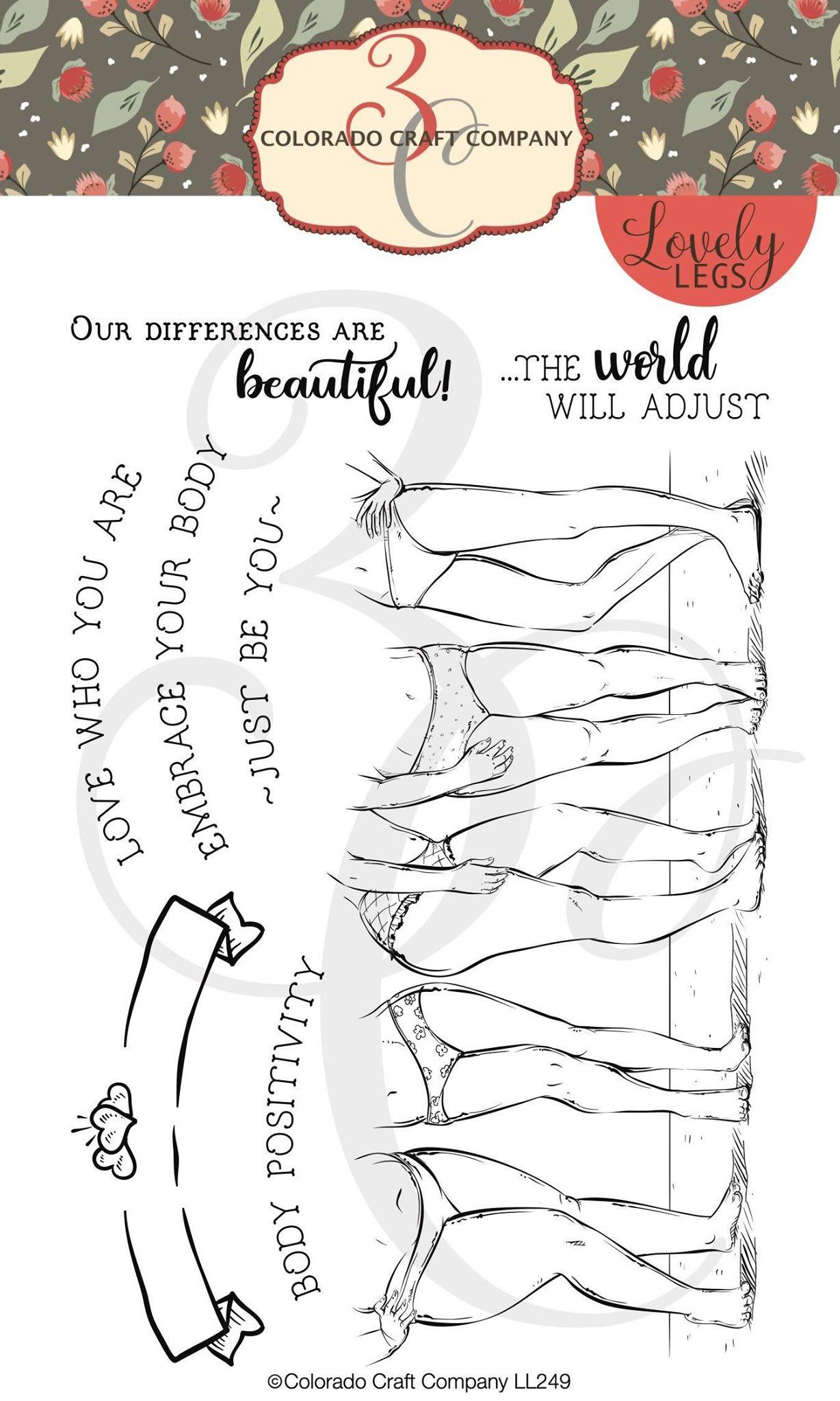 Colorado Craft Co. - Lovely Legs Body Positivity Stamp Set