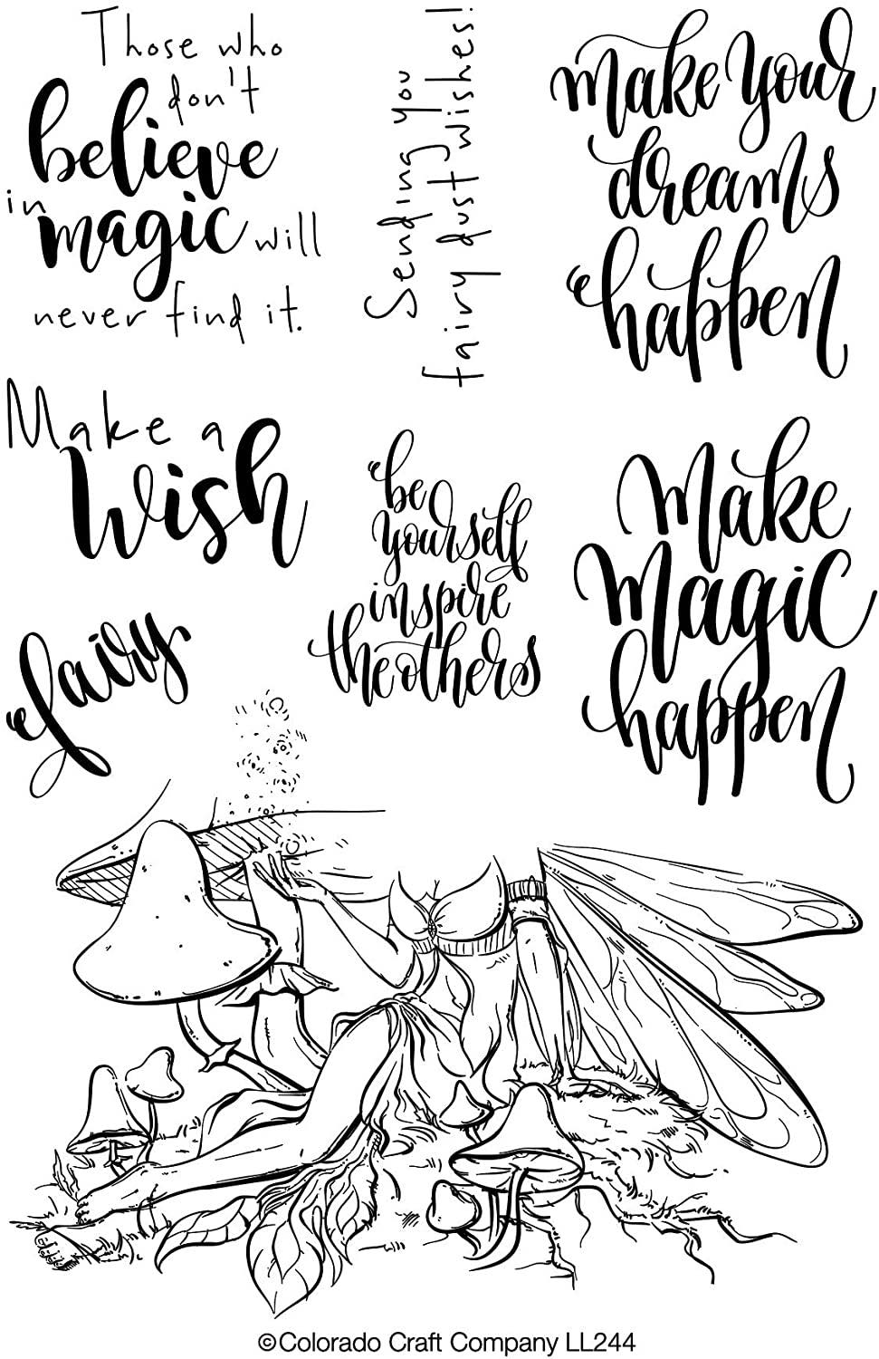Colorado Craft Co. - Lovely Legs Fairy Magic Stamp