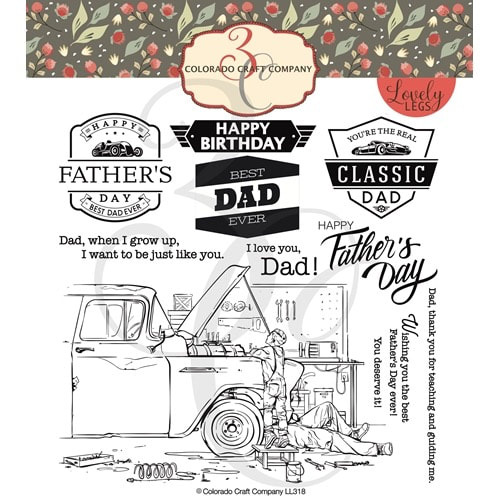 Colorado Craft Co. - Lovely Legs Father & Son Stamp