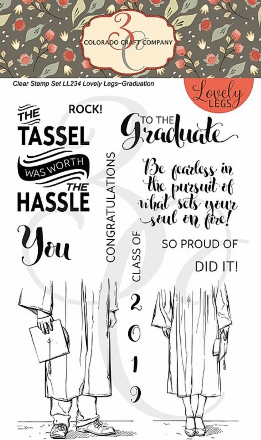 Colorado Craft Co. - Lovely Legs Graduation Stamp Set