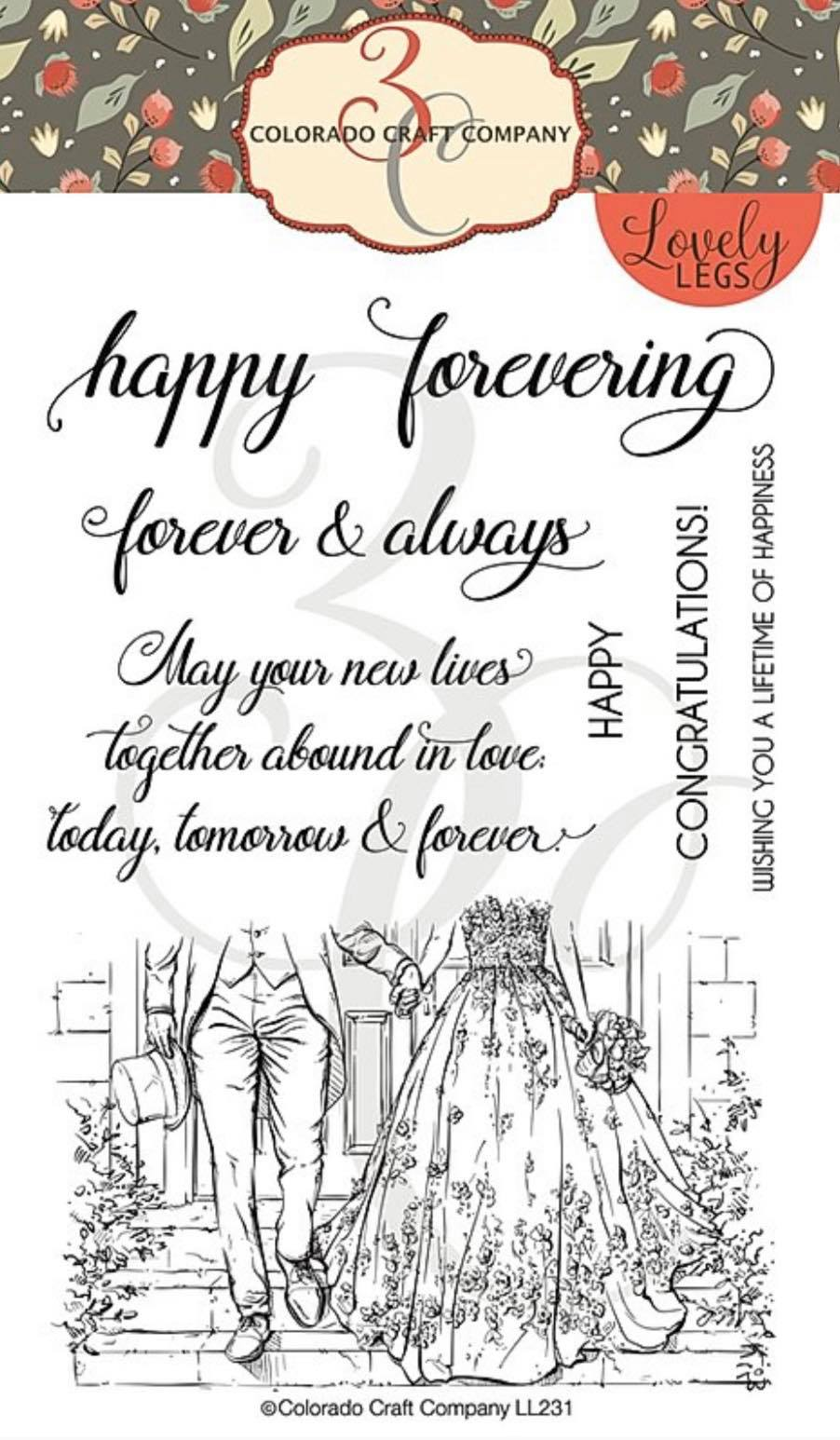 Colorado Craft Co. - Lovely Legs Happy Forevering Stamp Set