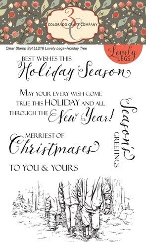 Colorado Craft Co. - Lovely Legs Holiday Tree Stamp Set