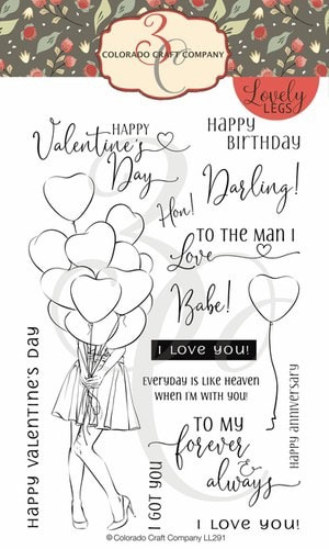 Colorado Craft Co. - Lovely Legs I Got You, Babe Stamp Set