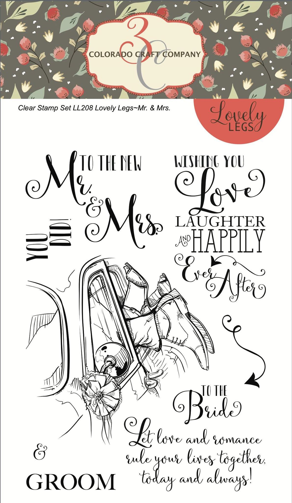 Colorado Craft Co. - Lovely Legs Mr. & Mrs. Stamp Set