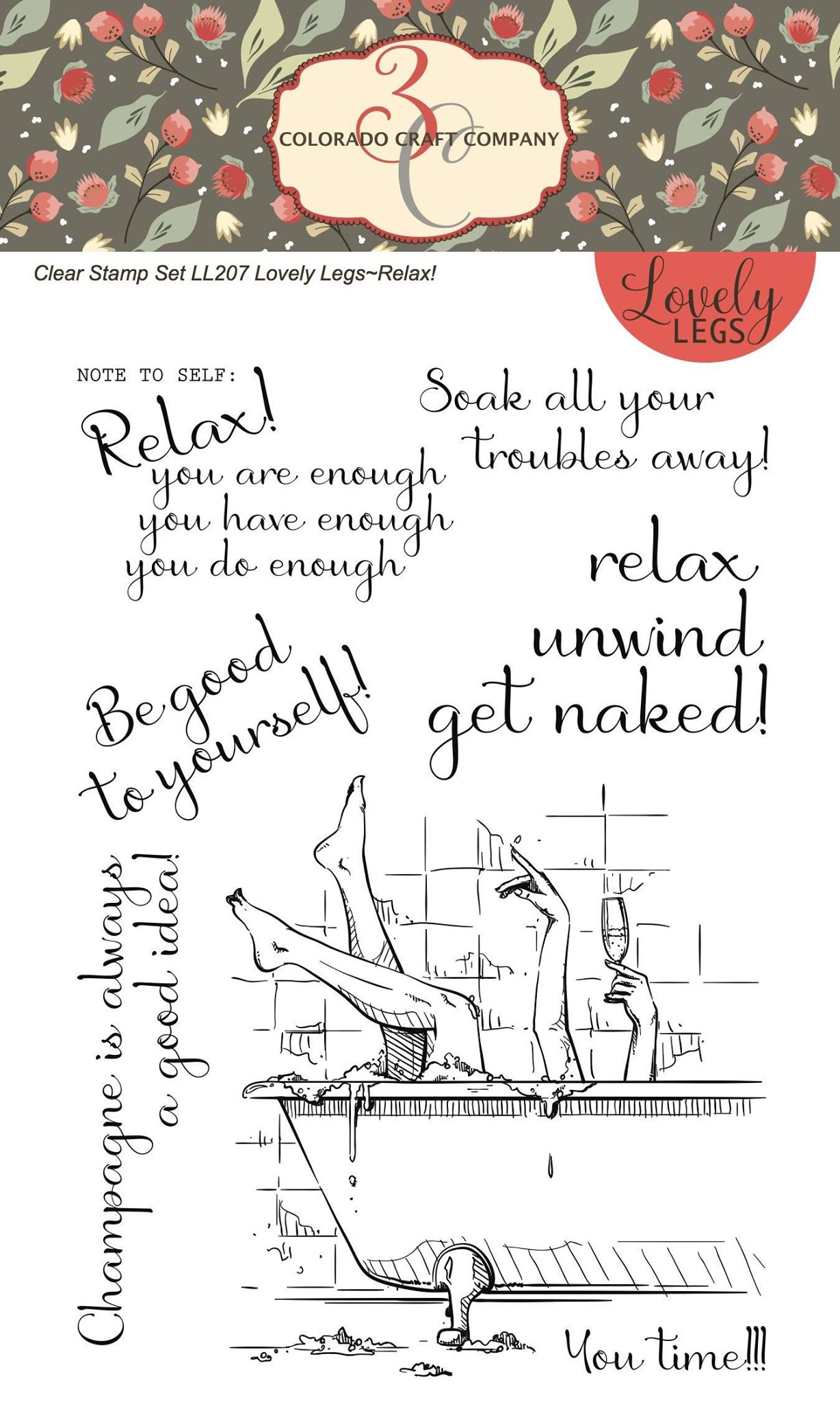 Colorado Craft Co. - Lovely Legs Relax Stamp Set