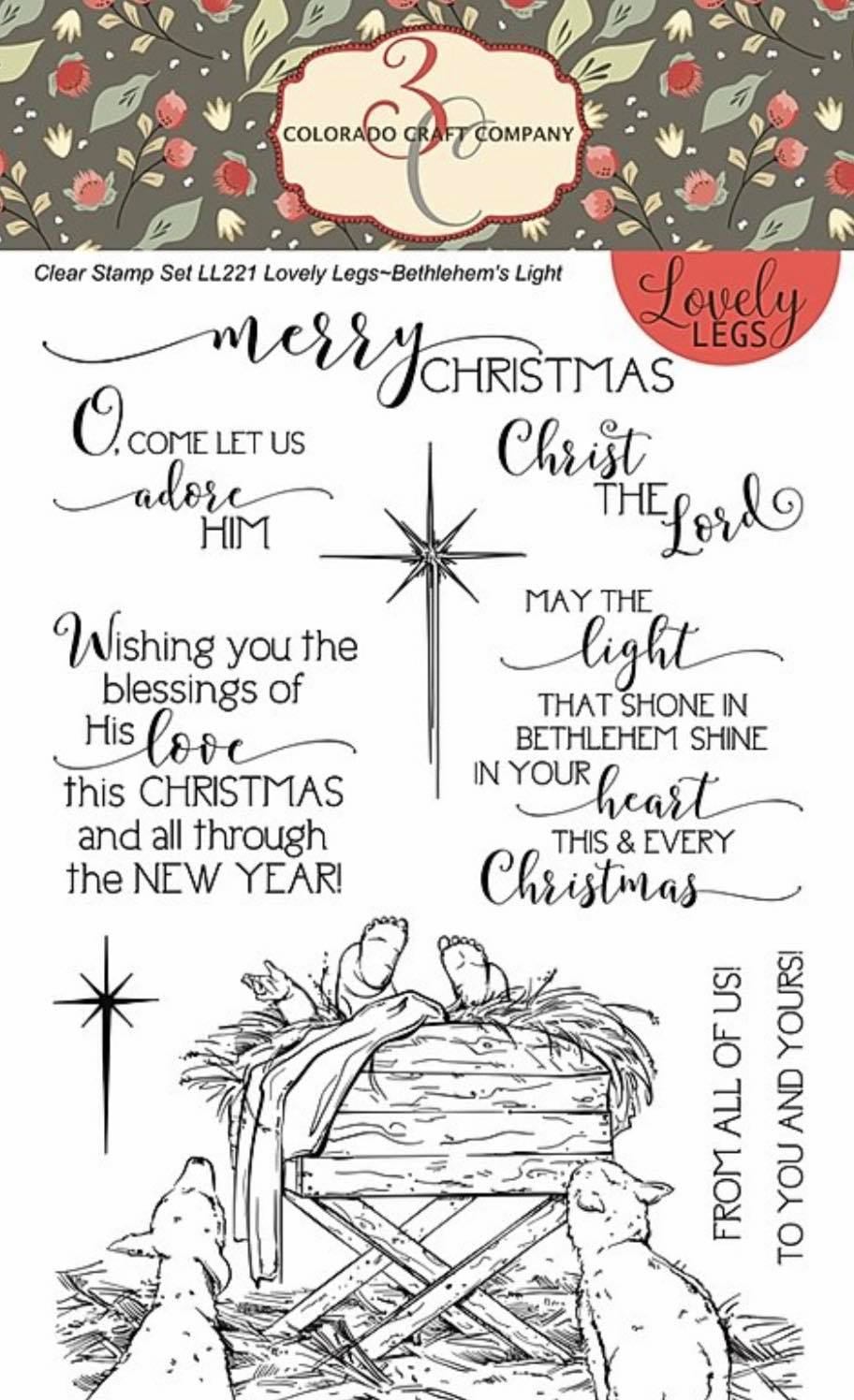 Colorado Craft Co. - Lovely Legs: Bethlehem's Light Stamp Set