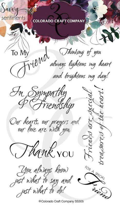 Colorado Craft Co. - Savvy Sentiiments Friendship Greetings Stamp Set