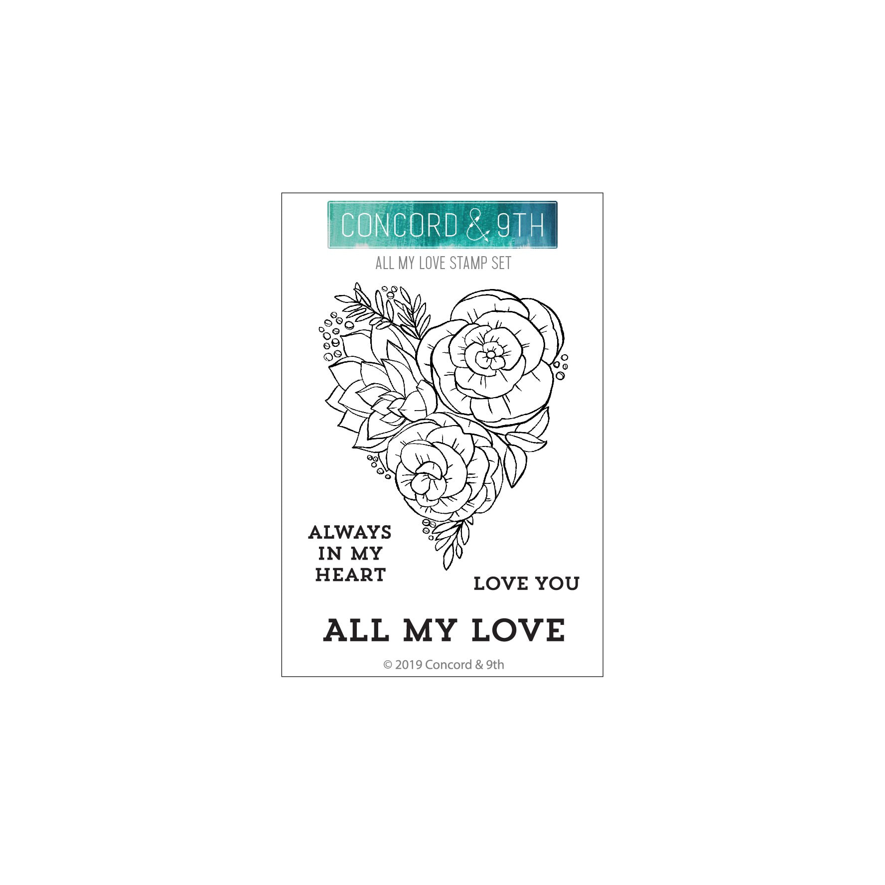 Concord & 9th - All My Love Stamp Set