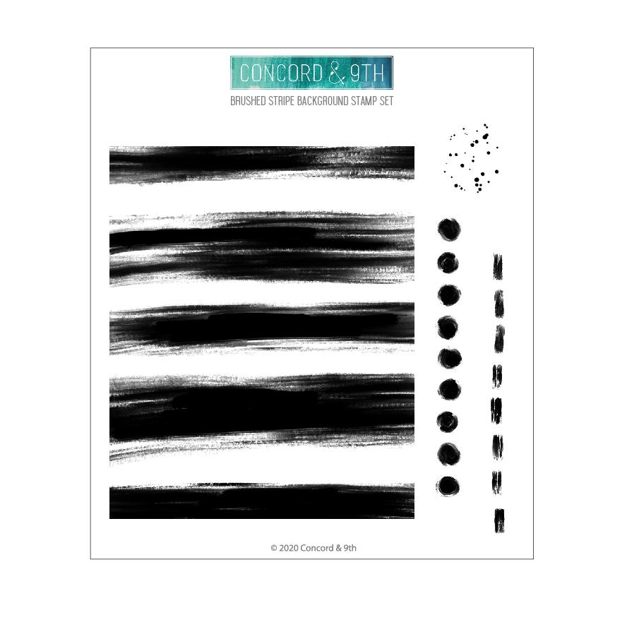Concord & 9th - Brushed Stripe Background Stamp Set