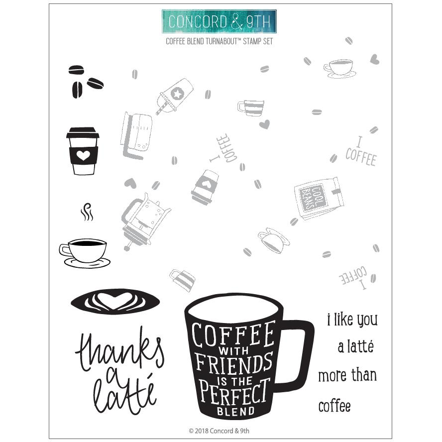 Concord & 9th - Coffee Blend Turnabout Stamp Set