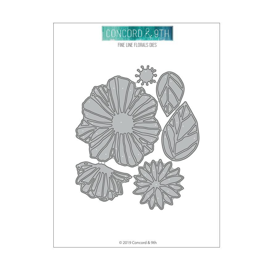 Concord & 9th - Fine Line Florals Die