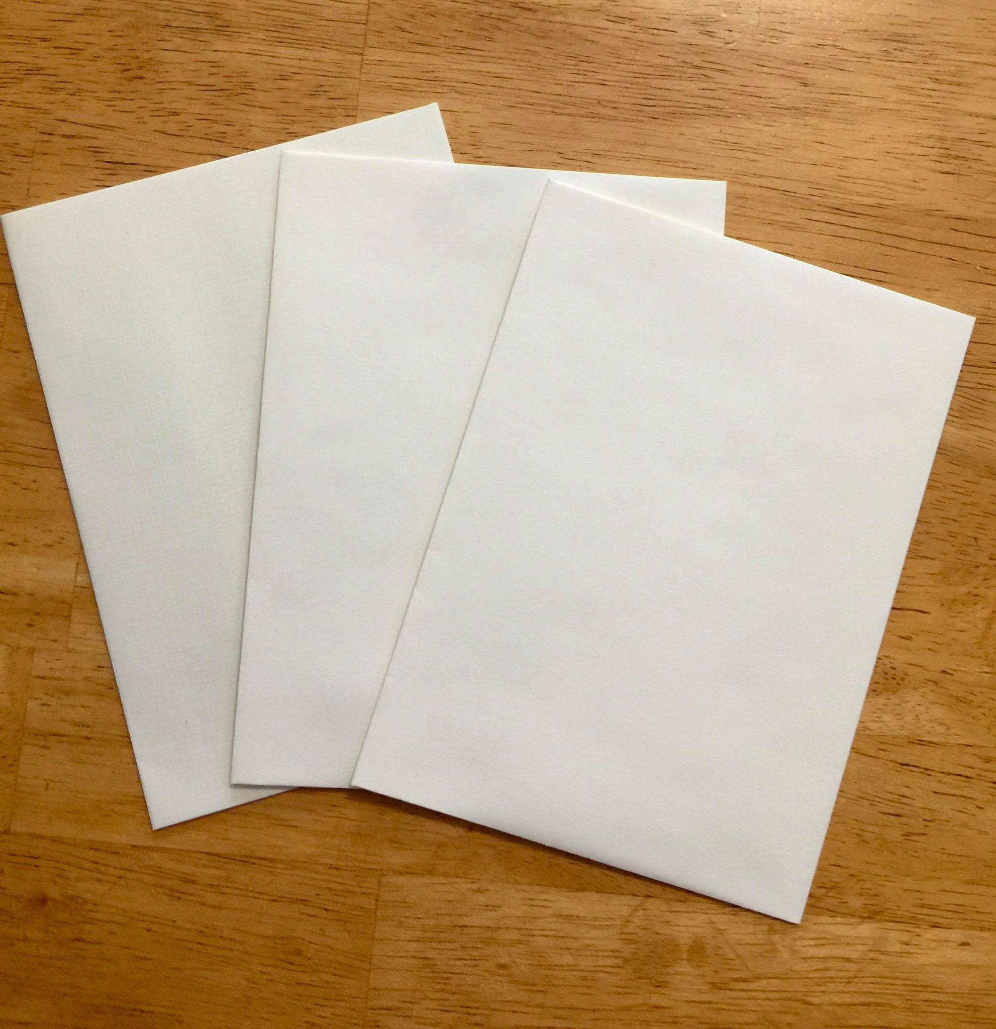 Cream Envelope Packs