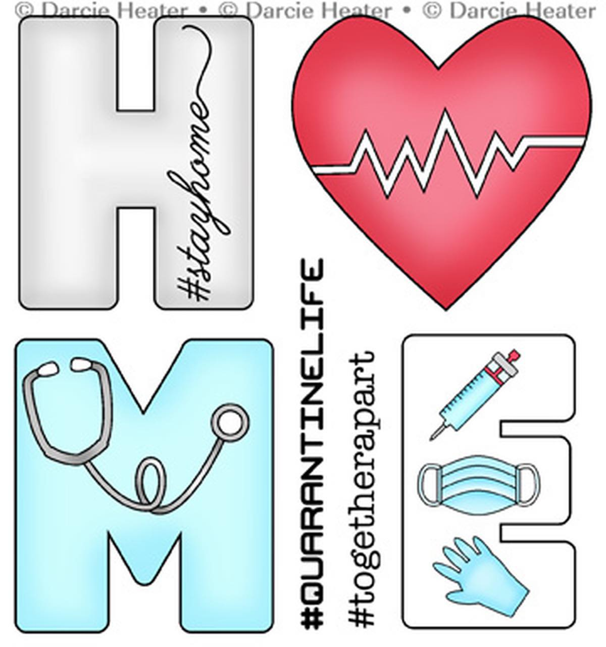 Darcie's Heart & Home - Stay Home Stamp Set