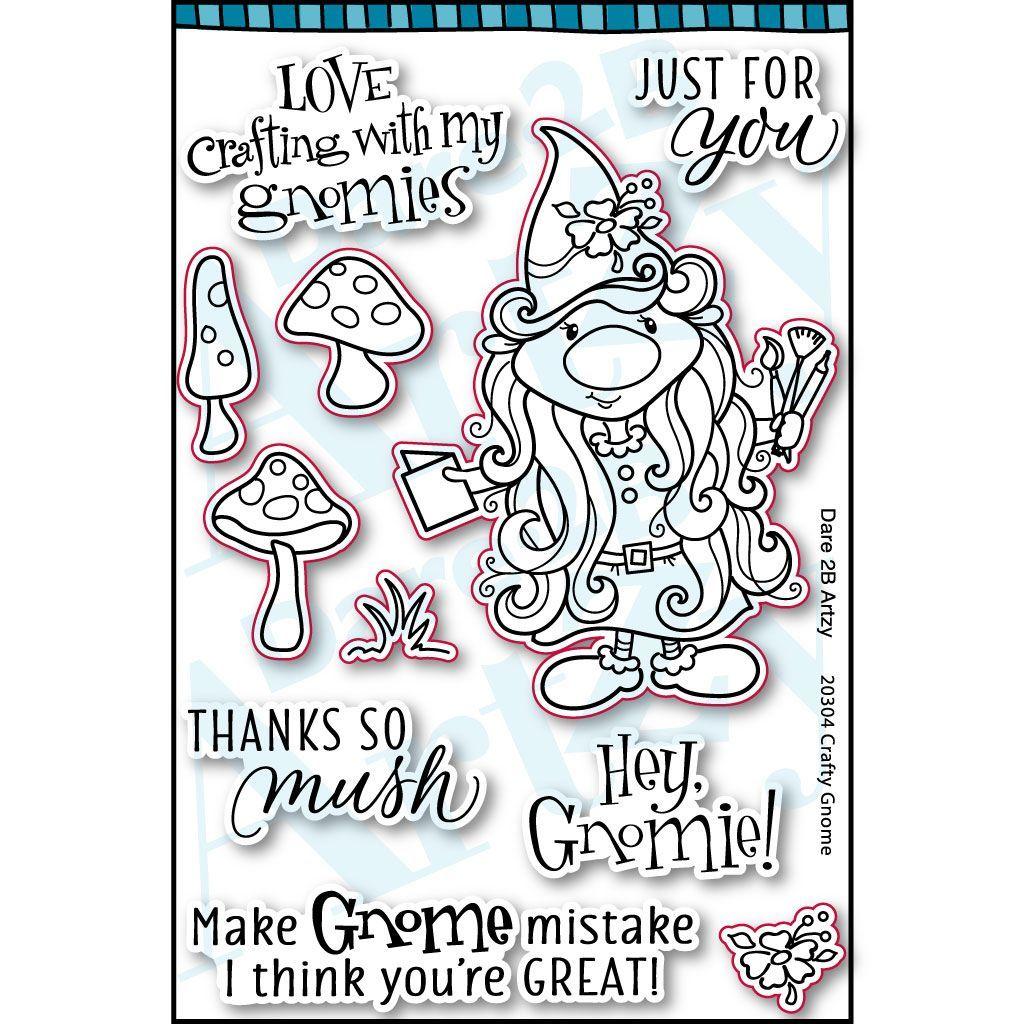 Dare 2B Artzy - Crafty Gnome Stamp Set