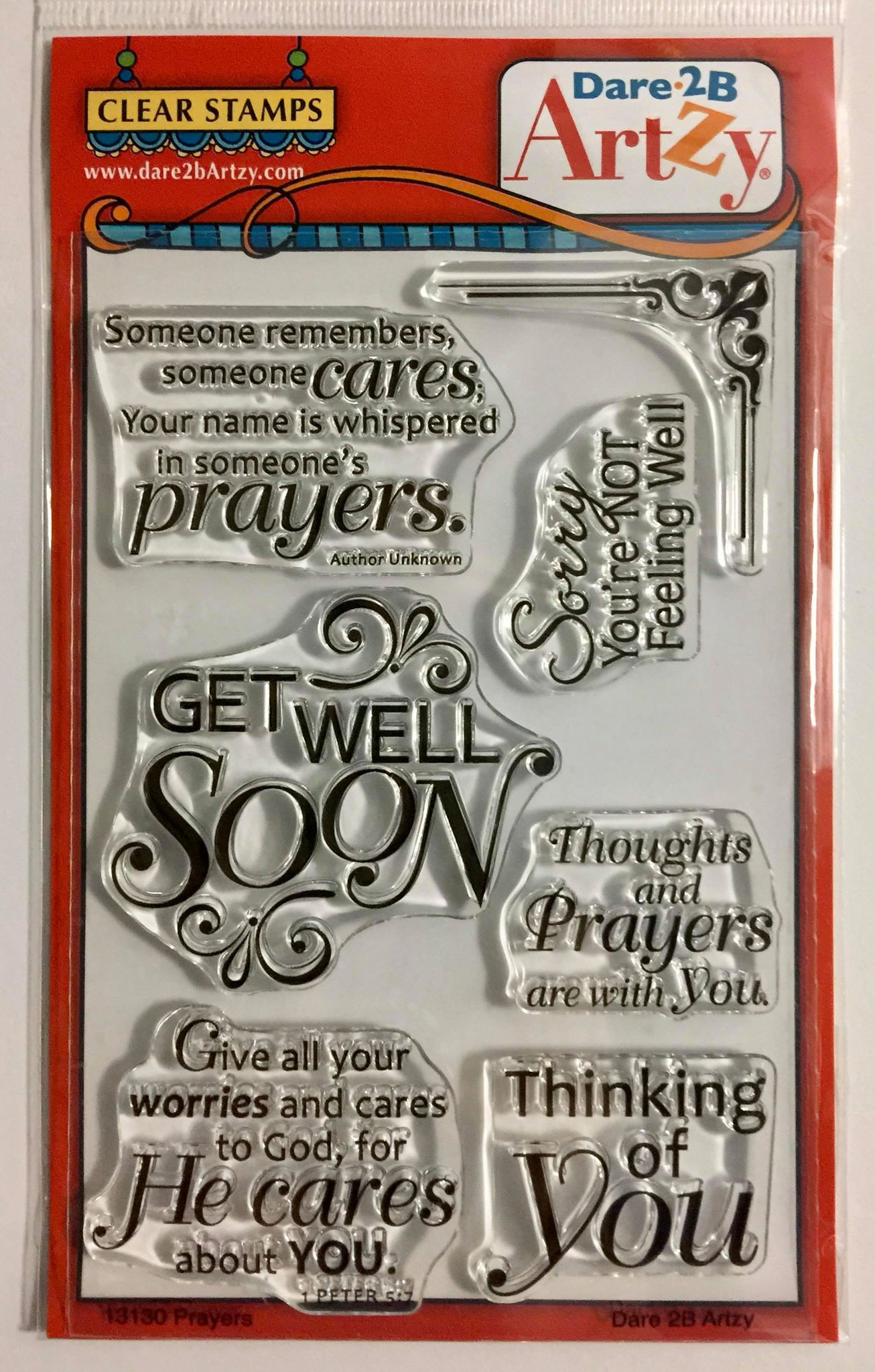 Dare 2B Artzy - Get Well Stamp Set