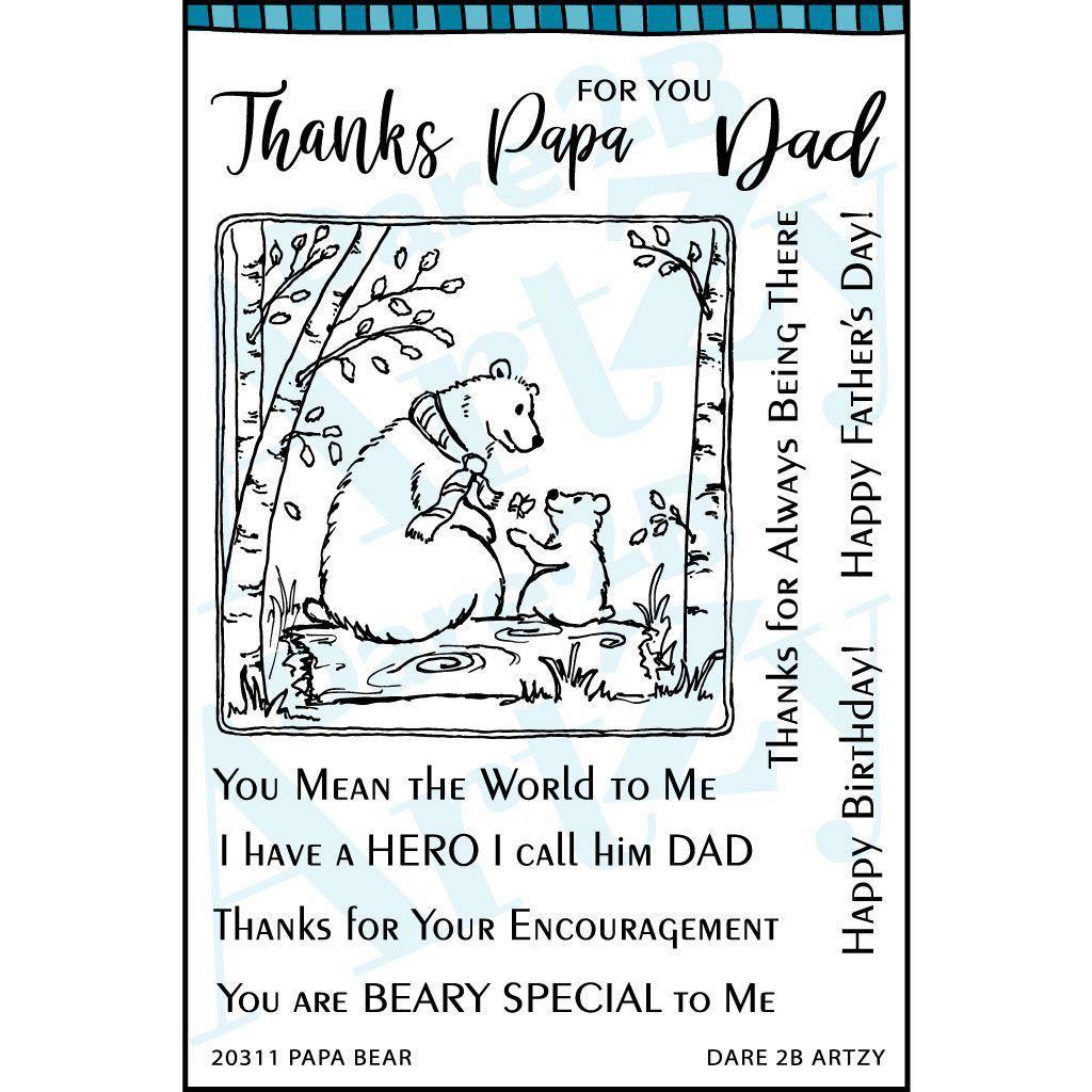 Dare 2B Artzy - Papa Bear Stamp Set