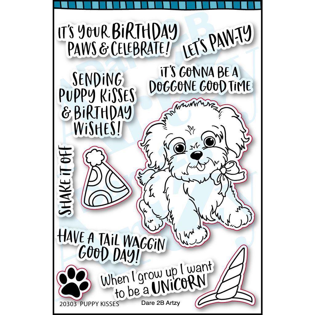 Dare 2B Artzy - Puppy Kisses Stamp Set