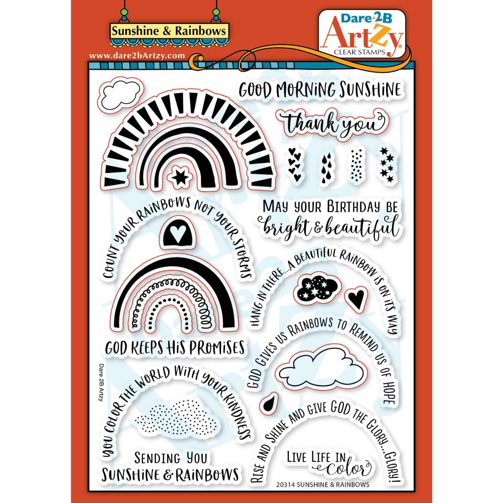 Dare 2B Artzy - Sunshine and Rainbows Large Stamp Set