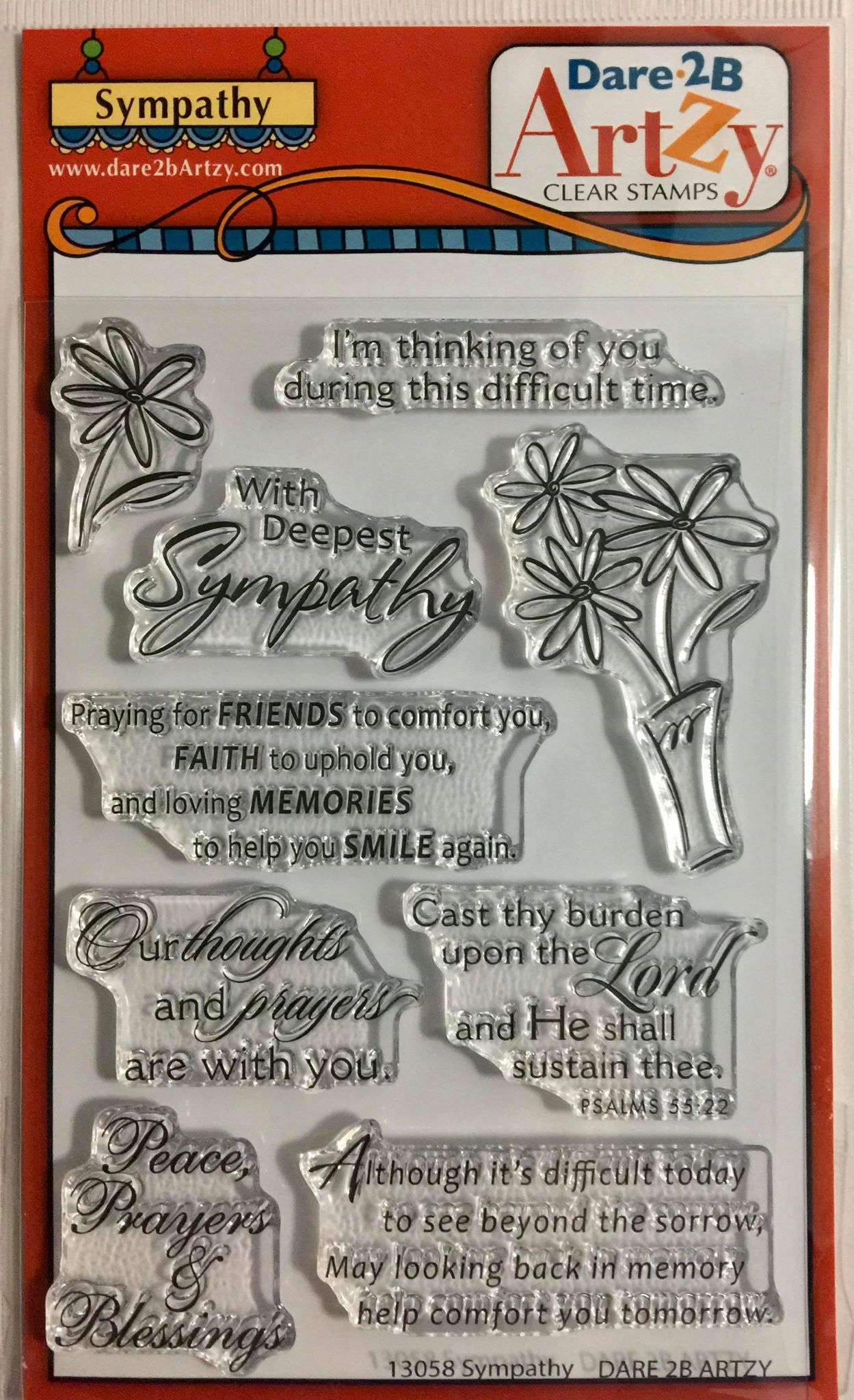 Dare 2B Artzy - Sympathy Stamp Set