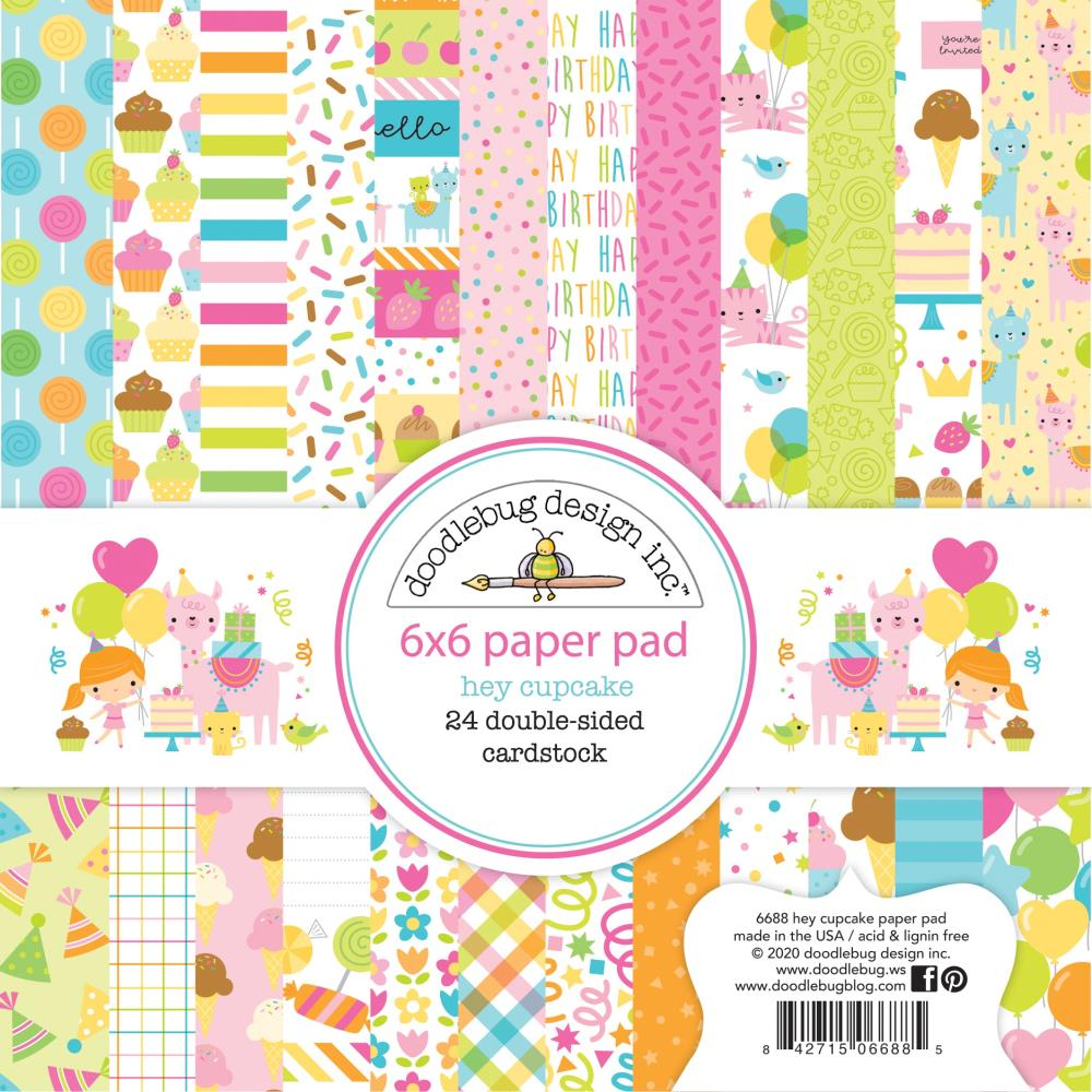 Doodlebug - Double-Sided 6x6 Paper Pad: Hey Cupcake
