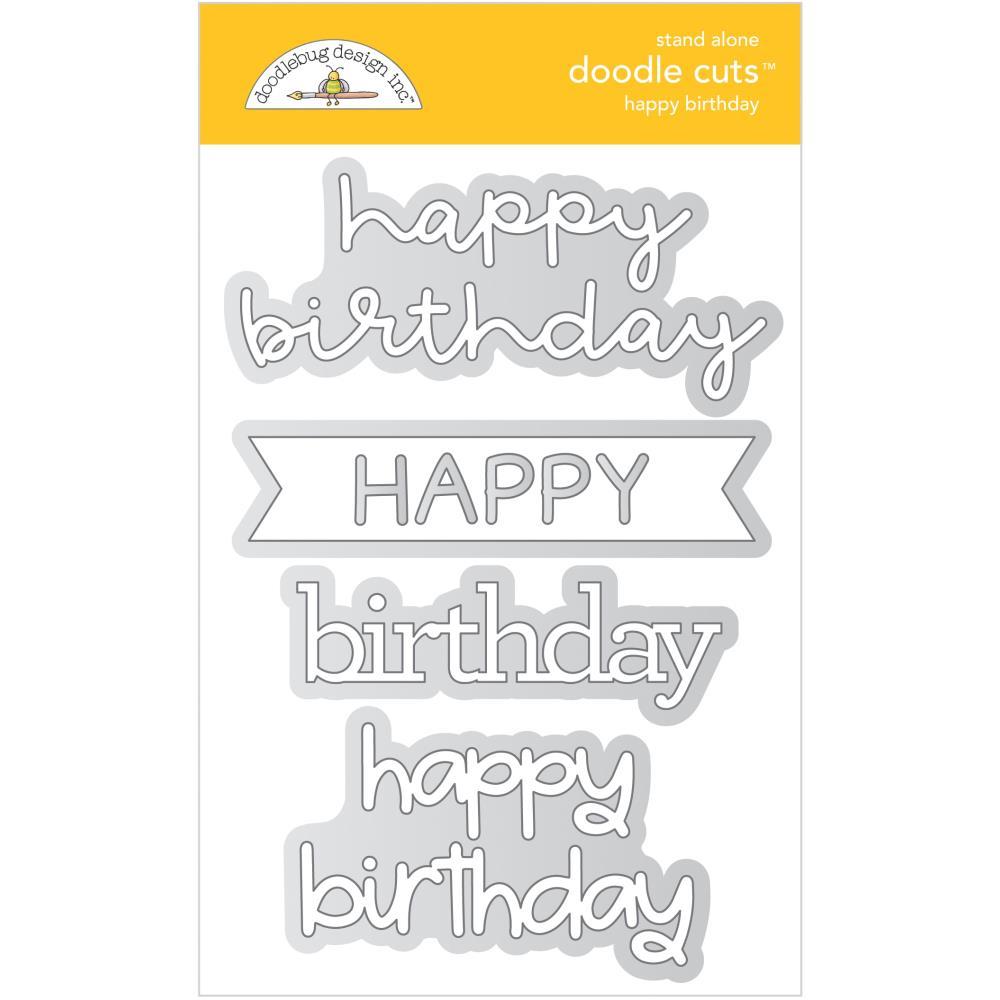 Doodlebug - Happy Birthday Doodle Cuts Dies