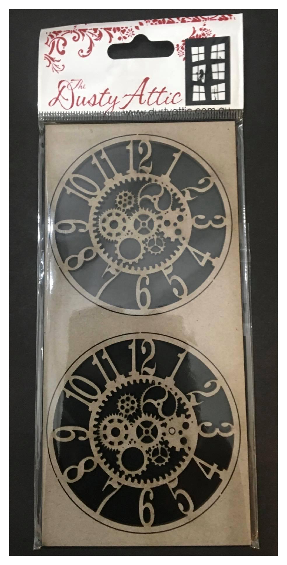 Dusty Attic Chipboard - Clockworks Small