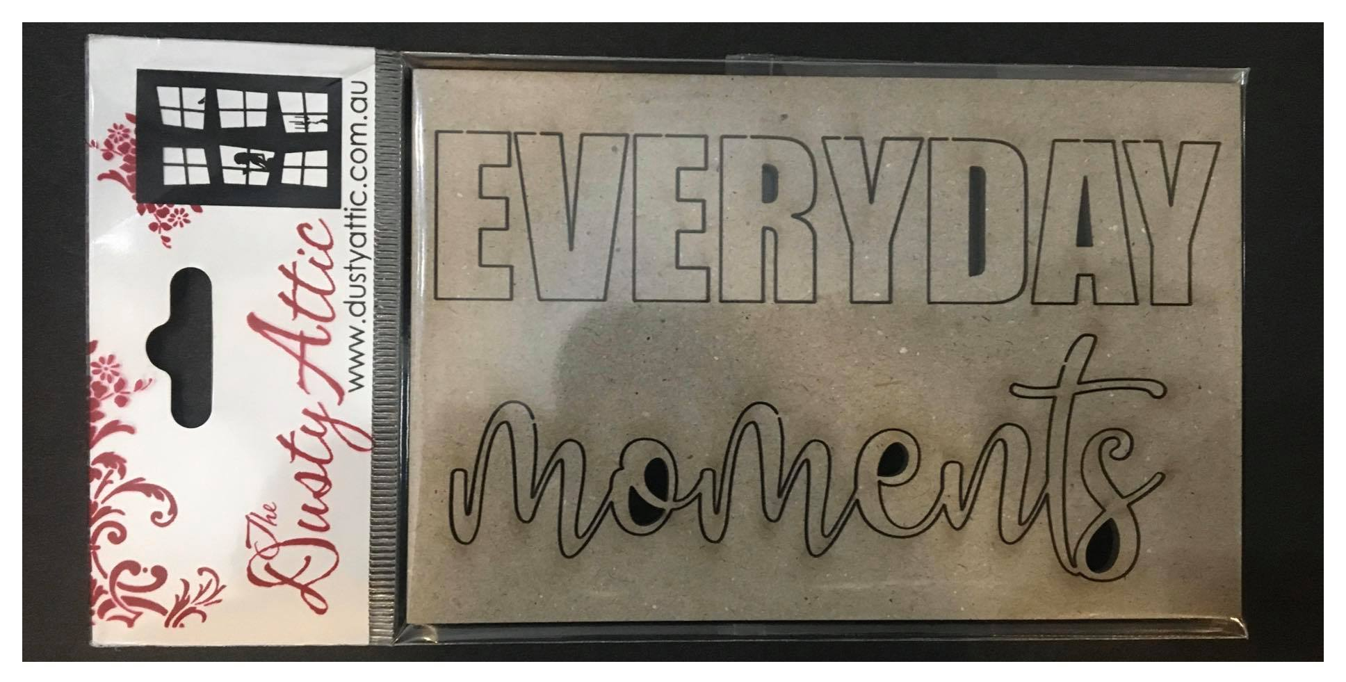 Dusty Attic Chipboard - Everyday Moments