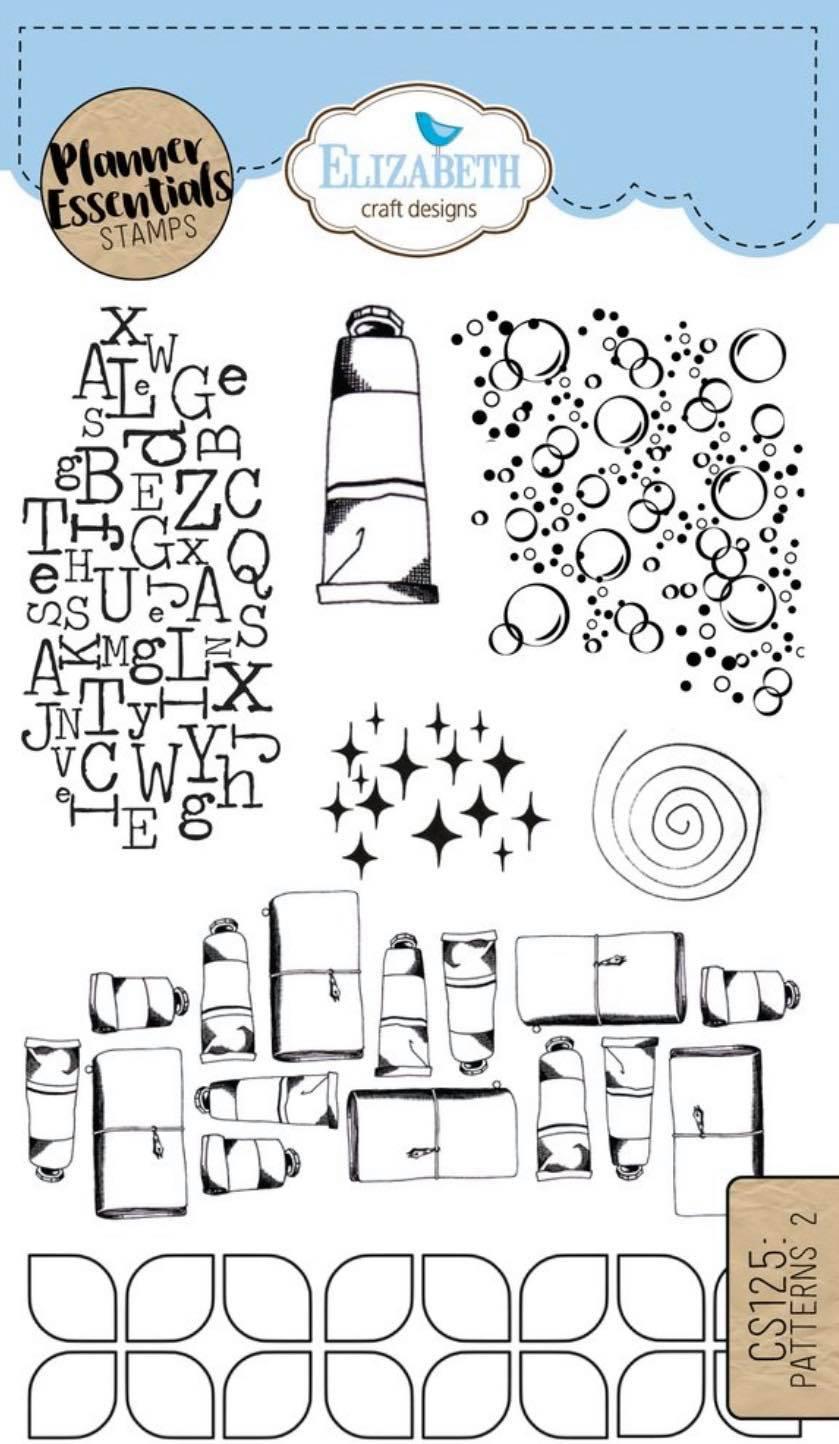 Elizabeth Craft Designs - Patterns 2 Stamp Set