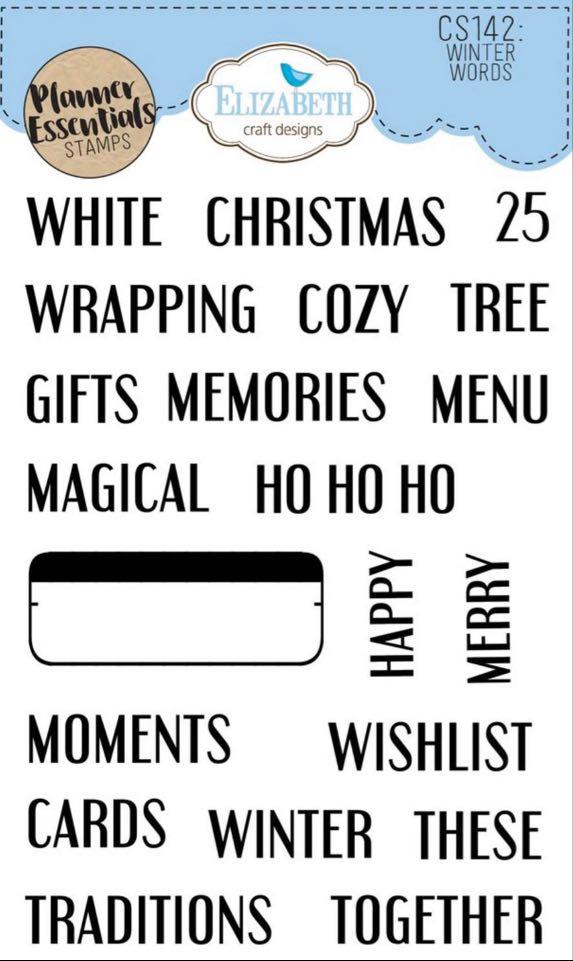 Elizabeth Craft Designs - Winter Words Stamp Set