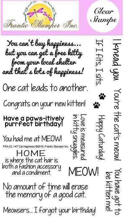 Frantic Stamper - Cat Happiness Stamp Set