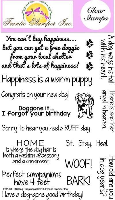 Frantic Stamper - Dog Happiness Stamp Set