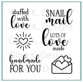 Gina K Designs - Stuffed with Love Mini Stamp Set