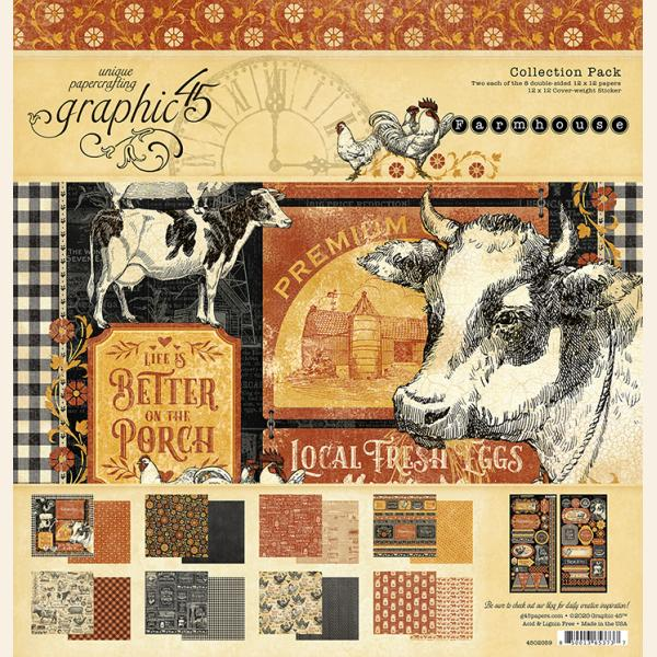 Graphic 45 - Farmhouse 12x12 Collection Pack