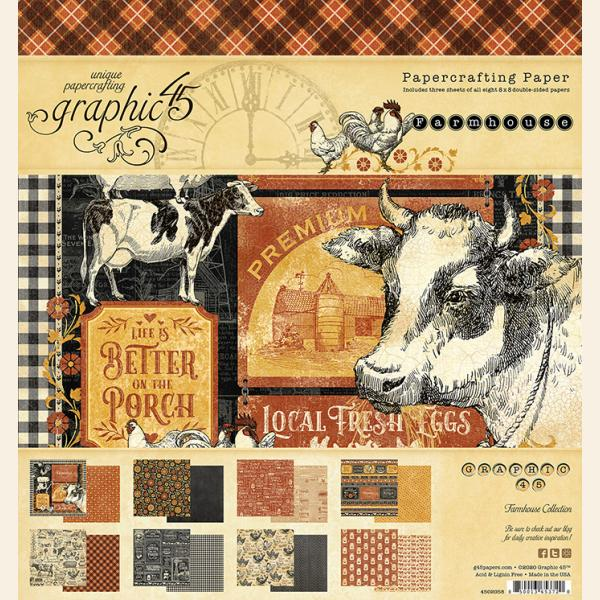 Graphic 45 - Farmhouse 8x8 Pad