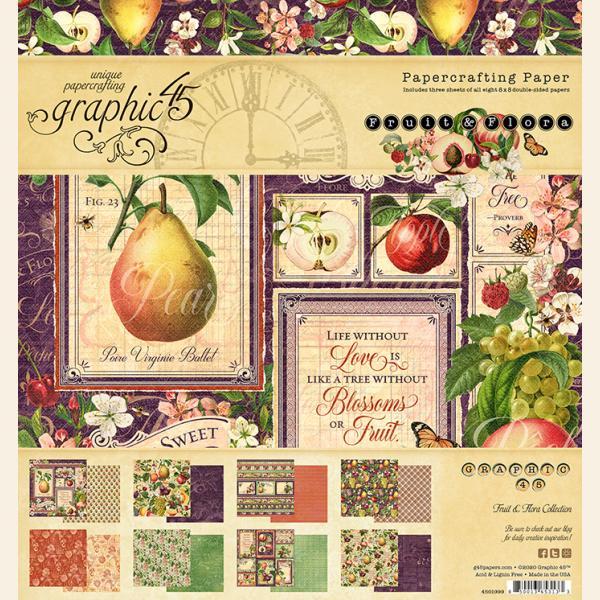 Graphic 45 - Fruit & Flora 8x8 Pad