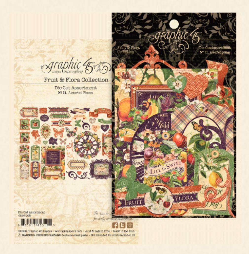 Graphic 45 - Fruit & Flora Die Cut Assortment