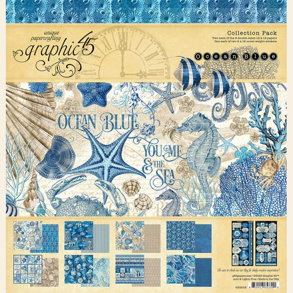 Graphic 45 - Ocean Blue 12x12 Collection Pack