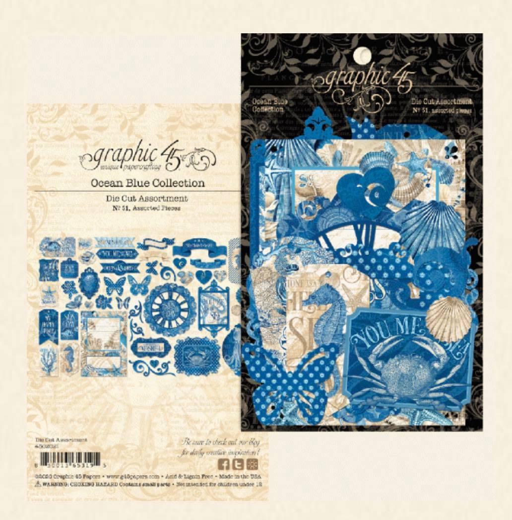 Graphic 45 - Ocean Blue Die-Cut Assortment