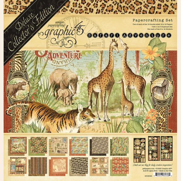 Graphic 45 - Safari Adventure Deluxe Collector's Pack