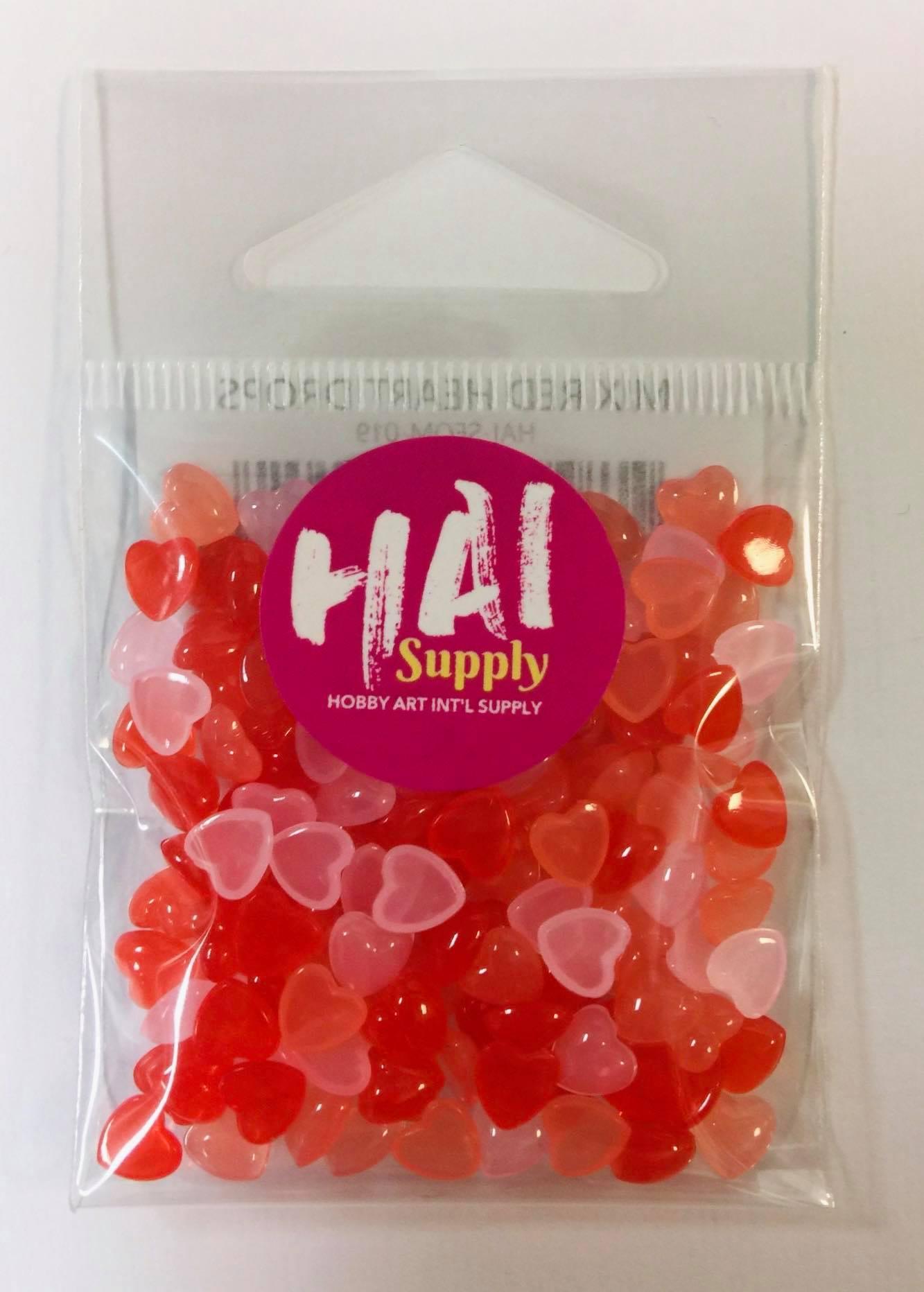 HAI Confetti - Mix Red Heart Drops