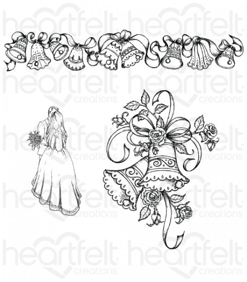 Heartfelt Creations - Wedding Bells Stamp Set