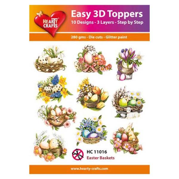 Hearty Crafts Easy 3D Toppers - Easter Baskets