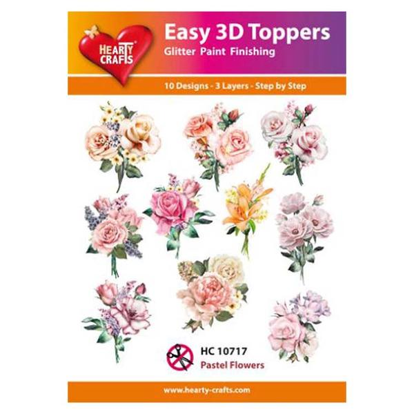 Hearty Crafts Easy 3D Toppers - Pastel Flowers