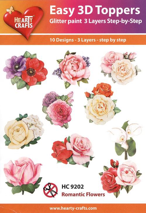 Hearty Crafts Easy 3D Toppers - Romantic Flowers